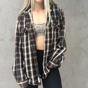🌻Distressed Open Back Hooded Cozy Flannel 🌻